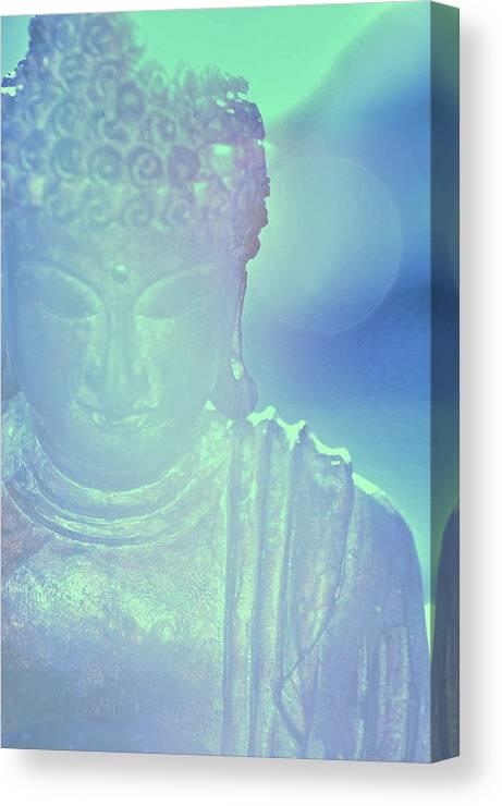 Buddah Canvas Print featuring the photograph Buddah Bokeh by Cindy Greenstein