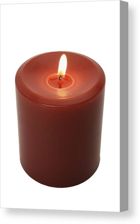 Burning Votive Candle, Elevated View Canvas Print