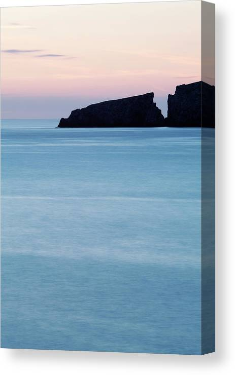 Water Canvas Print featuring the photograph Cala Mesquida On The Island by David Santiago Garcia
