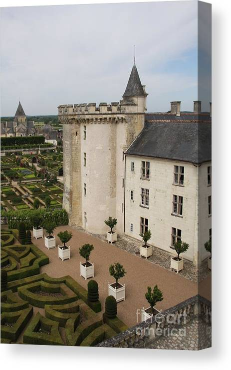 Palace Canvas Print featuring the photograph Chateau And Garden - Villandry by Christiane Schulze Art And Photography