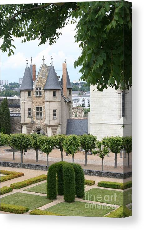 Castle Canvas Print featuring the photograph Chateau D'angers - Chatelet View by Christiane Schulze Art And Photography