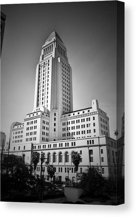 Architecture Canvas Print featuring the photograph City Hall. by Ismael Roman
