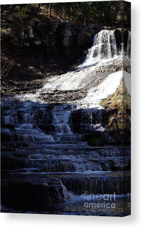 Waterfalls Canvas Print featuring the photograph Coming Your Way by Jeffery L Bowers