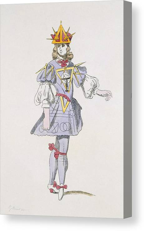 Baroque Canvas Print featuring the drawing Costume Design For Geometry In A 17th by French School