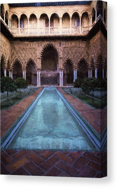 Joan Carroll Canvas Print featuring the photograph Courtyard Of The Maidens by Joan Carroll