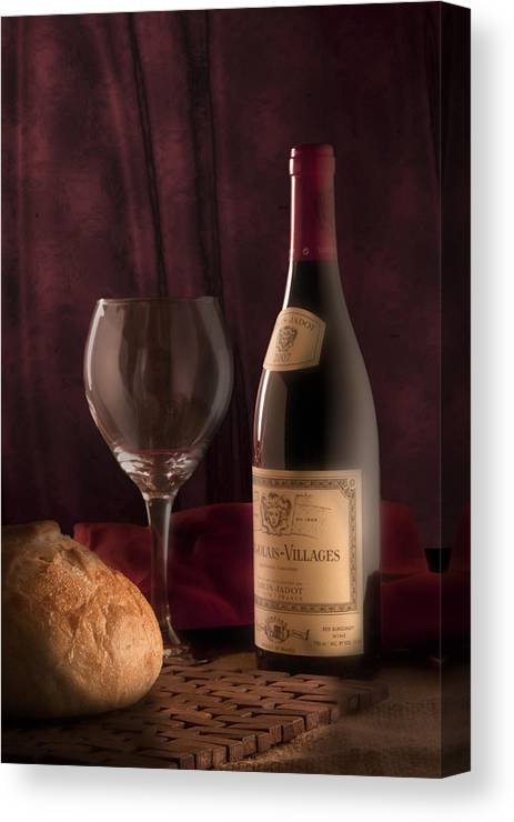 Alcohol Canvas Print featuring the photograph Date Night Still Life by Tom Mc Nemar