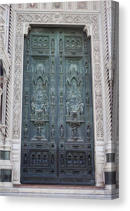 Door Of Augusto Passaglia Canvas Print featuring the photograph Door Of Augusto Passaglia by Ivete Basso Photography