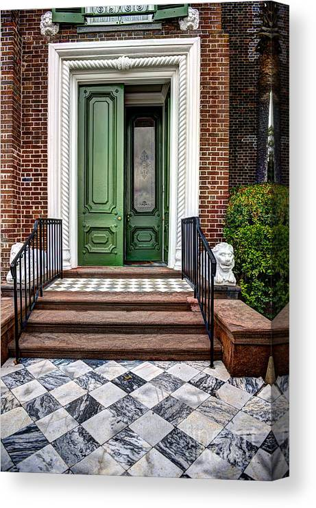 Historic Canvas Print featuring the photograph Doors Of Historic Charleston by Dale Powell