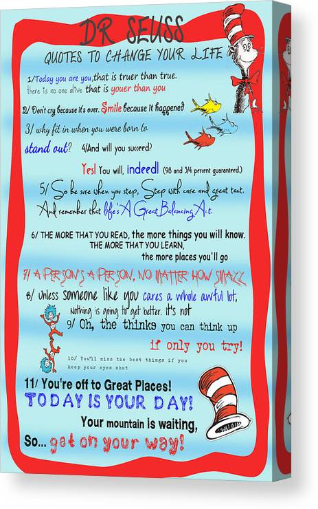 Dr Seuss Quotes To Change Your Life Canvas Print Canvas Art By