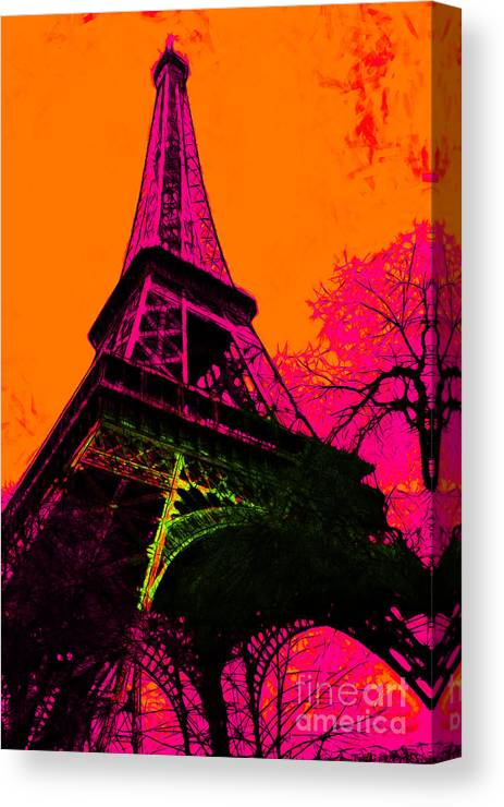Europe Canvas Print featuring the photograph Eiffel 20130115v1 by Wingsdomain Art and Photography