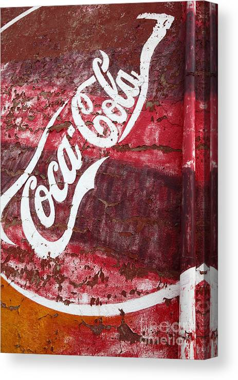 America Canvas Print featuring the photograph Faded Coca Cola Mural 2 by James Brunker