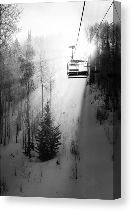 Vail Canvas Print featuring the photograph First Chair by Sean McClay
