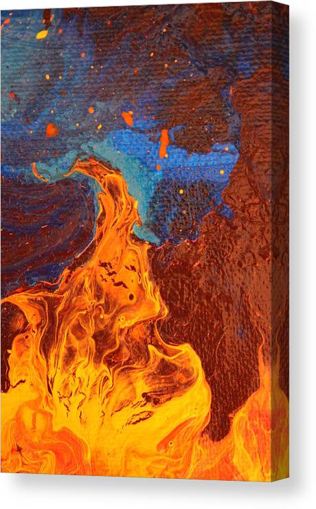 Flame Canvas Print featuring the painting Flick by Shelly Sexton