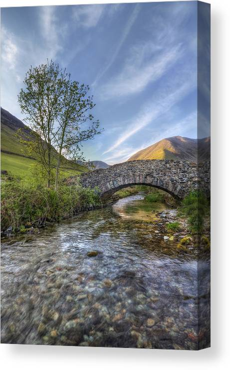 Landscape Canvas Print featuring the photograph Follow Your Bliss by Evelina Kremsdorf