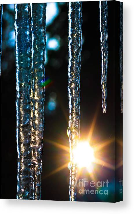 Frozen Twilight Canvas Print featuring the photograph Frozen Twilight by Mitch Shindelbower