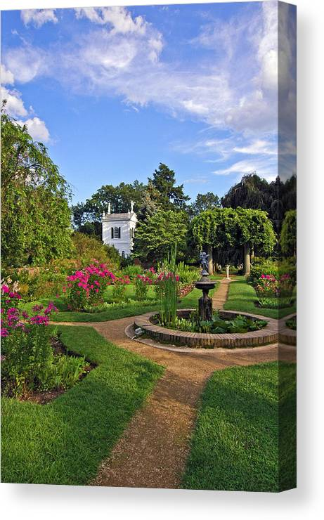 Glen Magna Gardens Canvas Print featuring the photograph Glen Magna by Michael Hubley