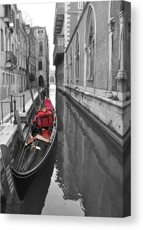 Venice Canvas Print featuring the photograph Gondola by Jared Windler