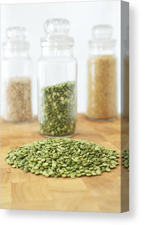 Peas Canvas Print featuring the photograph Green by Dawn Gilfillan