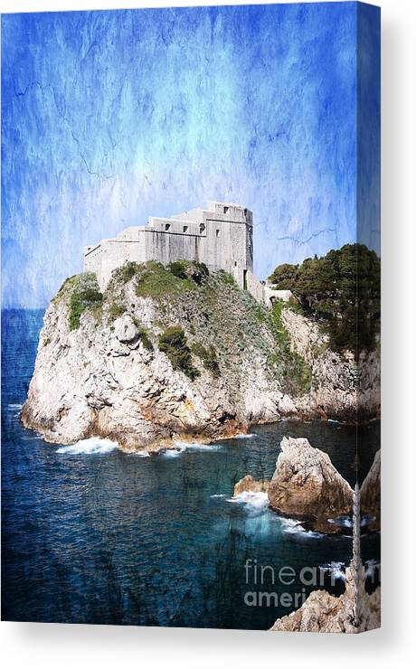 Dubrovnik Is One Of The Most Beautiful Towns In The Mediterranean. Dubrovnik Used To Be An Independent Republic. It Managed To Survive Many Centuries Canvas Print featuring the photograph Guarding The Harbour by Brenda Kean