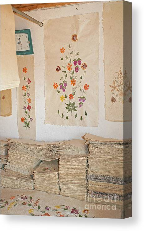 Africa Canvas Print featuring the photograph handmade paper from Madagascar 1 by Rudi Prott