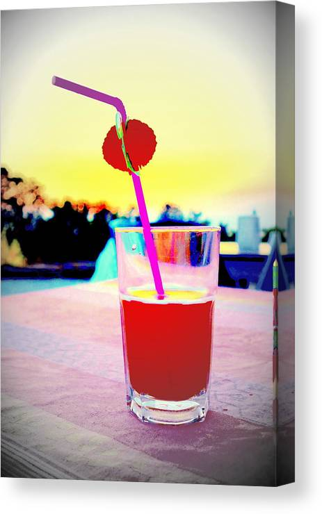 Drink Canvas Print featuring the photograph Have A Drink With Me Or Just Go Away And Never Come Back by Hilde Widerberg