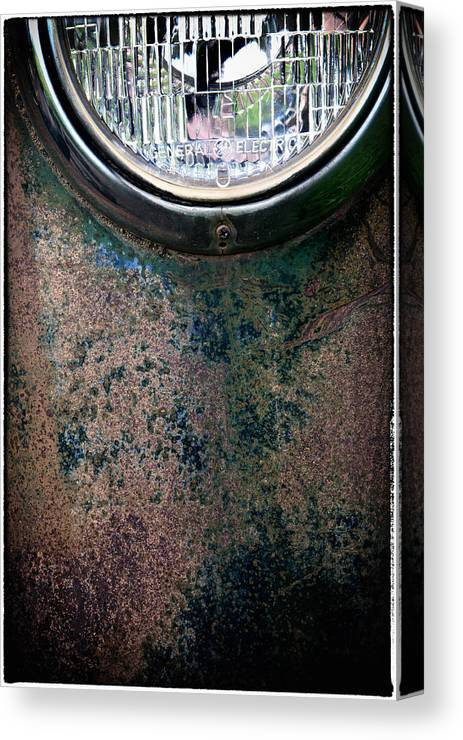 Headlight Canvas Print featuring the photograph Head Light by Barry Parsons