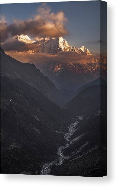 Landscape Canvas Print featuring the photograph High Above by Karsten Wrobel