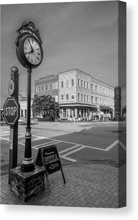 Photography Canvas Print featuring the photograph Historic Small Town In South Where by Panoramic Images