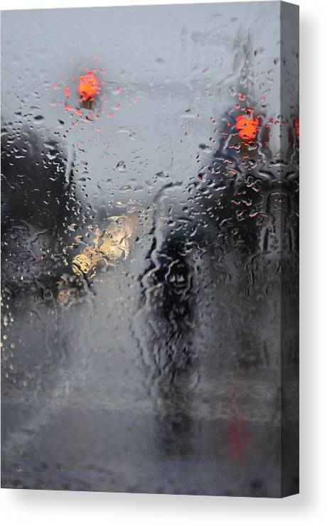Street Photography Canvas Print featuring the photograph Im Waiting Streets Hating by The Artist Project