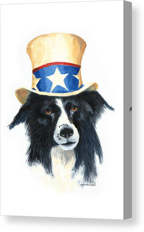 Dog Canvas Print featuring the painting In Dog We Trust by Jerry McElroy