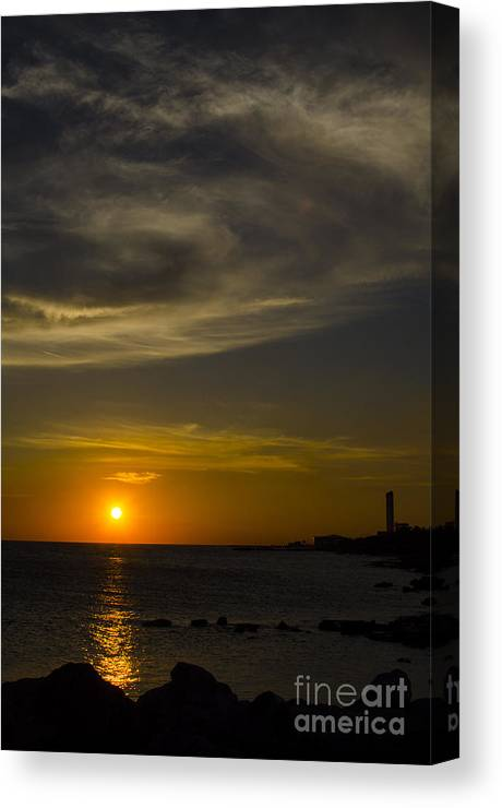 Curacao Canvas Print featuring the photograph Island Sunset by Jerry Hart