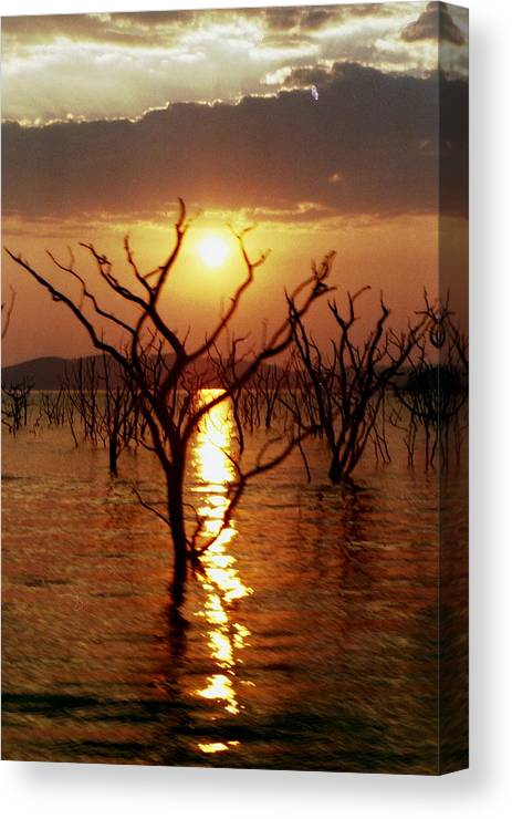Sunset Canvas Print featuring the photograph Kariba Sunset by Jeremy Hayden