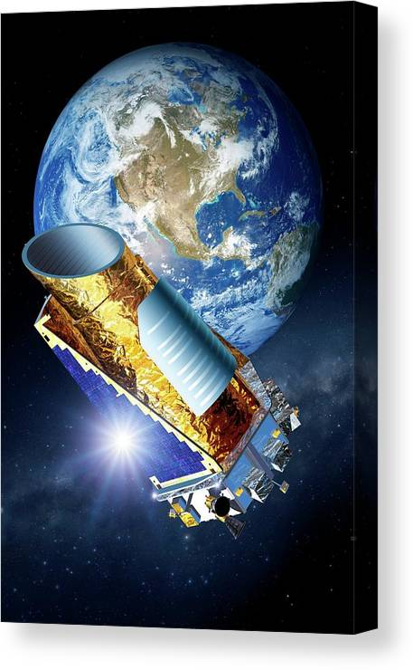 Nobody Canvas Print featuring the photograph Kepler Space Telescope by Detlev Van Ravenswaay