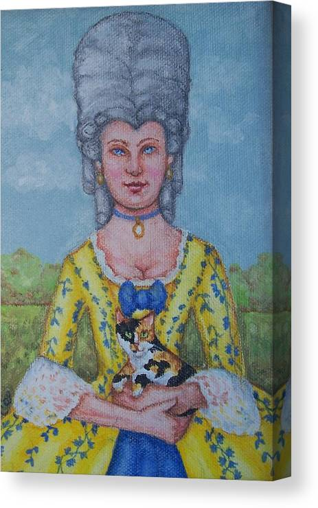 18th Century Canvas Print featuring the painting Lady Abigail by Beth Clark-McDonal