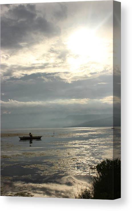Taal Lake Canvas Print featuring the photograph Lake Fishing by Erik Lagman