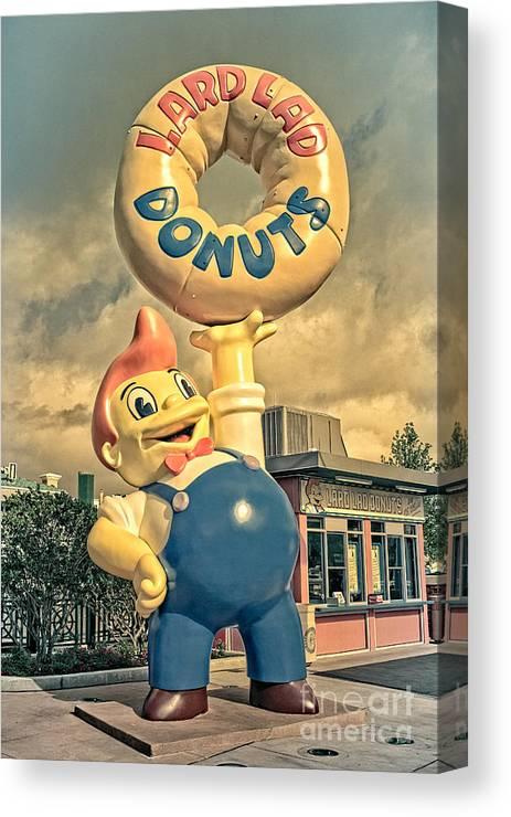 Lard Canvas Print featuring the photograph Lard Lad Donuts by Edward Fielding