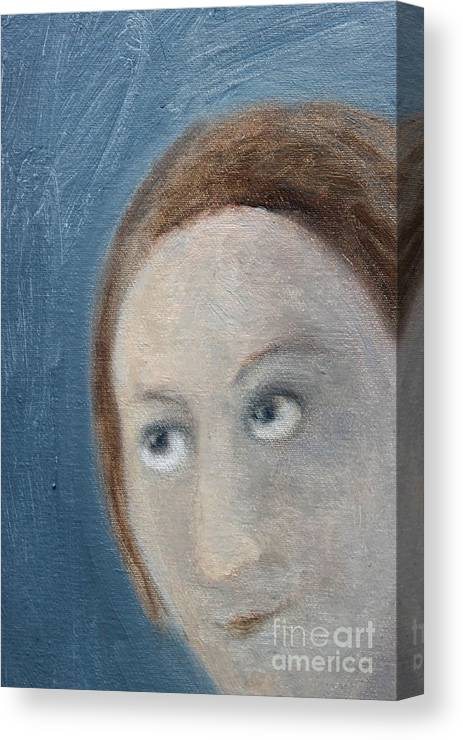 Expectation Canvas Print featuring the painting L'attente Amoureuse by Corinna Lorena Carrara