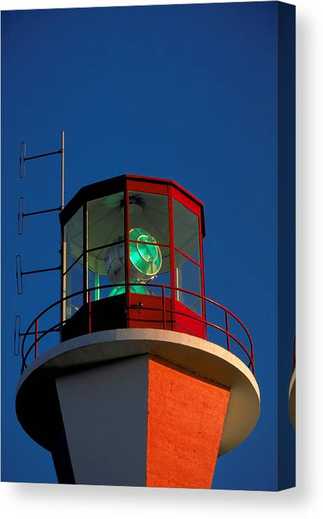 Light House Canvas Print featuring the photograph Lighthouse In Nova Scotia by Carl Purcell