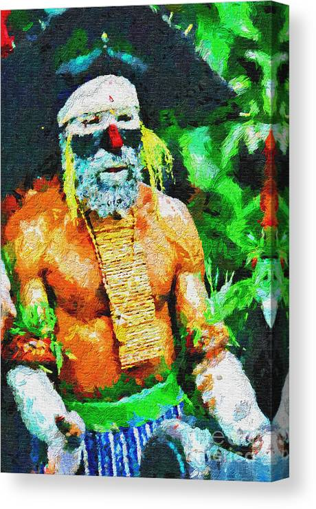Stick Canvas Print featuring the painting Like A Pirate by George Fedin and Magomed Magomedagaev