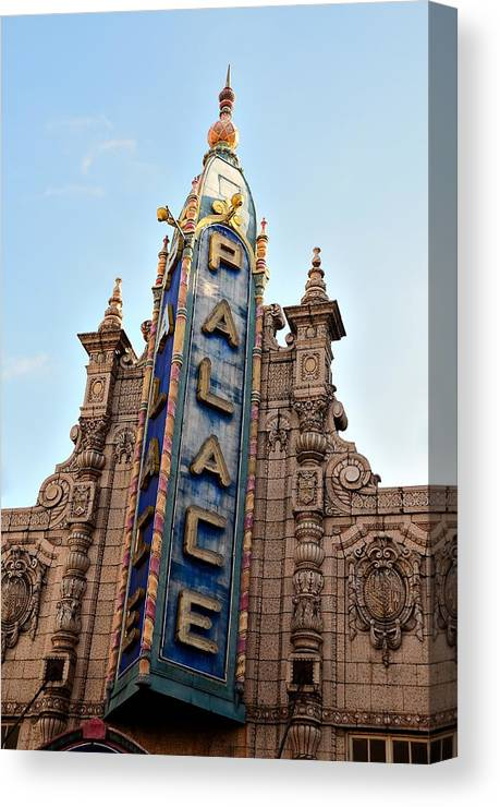 Louisville Canvas Print featuring the photograph Louisville Palace Theater by Steven Richman