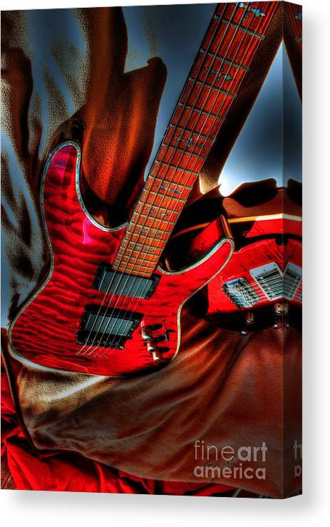 Acoustic Canvas Print featuring the photograph Loving Red By Steven Langston by Steven Lebron Langston