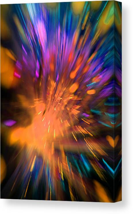 Abstract Canvas Print featuring the photograph Mad World by Dazzle Zazz