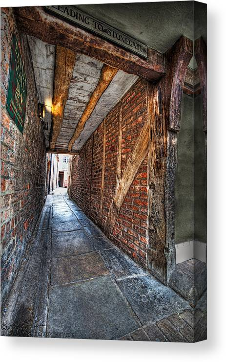 Medieval Canvas Print featuring the photograph Medieval Doorway by Beverly Cash