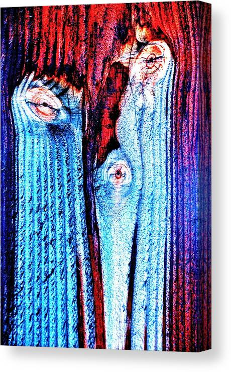 Canvas Print featuring the photograph Melting Face by David Flitman