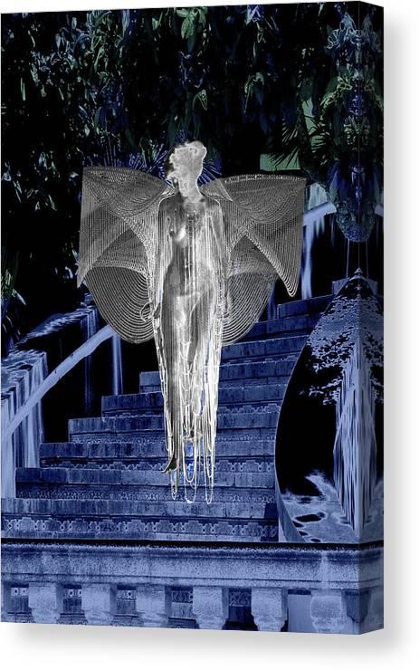 Midnight Canvas Print featuring the digital art Midnight Garden by Lisa Yount