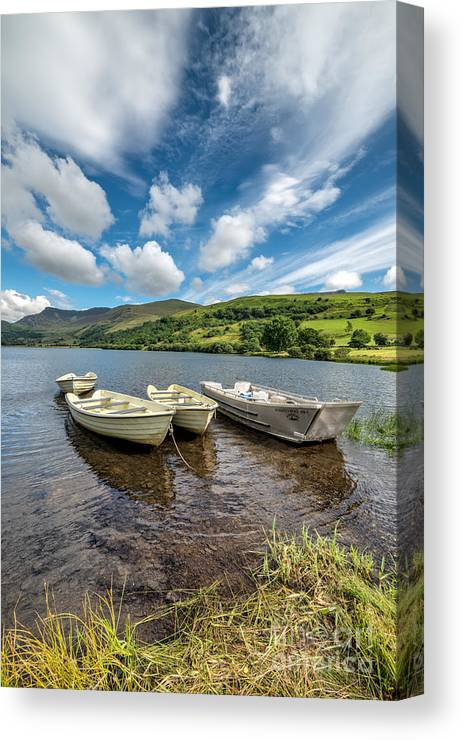 Water Canvas Print featuring the photograph Moored Boats by Adrian Evans