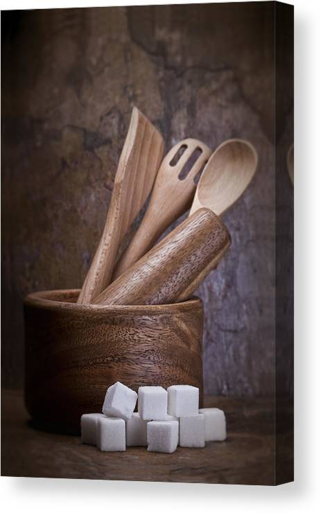 Art Canvas Print featuring the photograph Mortar And Pestle Still Life II by Tom Mc Nemar
