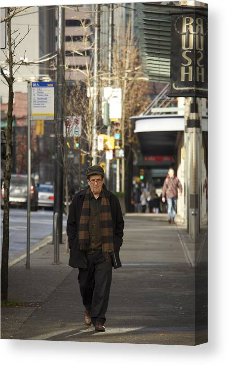 Street Photography Canvas Print featuring the photograph No Rush by The Artist Project
