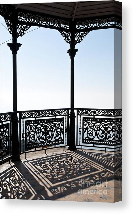 Wrought Iron Pavilion Canvas Print featuring the photograph Observation Point by Lana Enderle