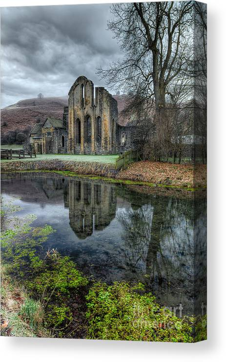 13th Century Canvas Print featuring the photograph Old Abbey by Adrian Evans